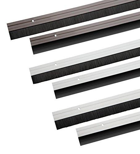 Türbodendichtung aus Aluminium - wahlweise mit Gummidichtung oder Bürstendichtung zum Schrauben oder Kleben (Gummidichtung, braun)