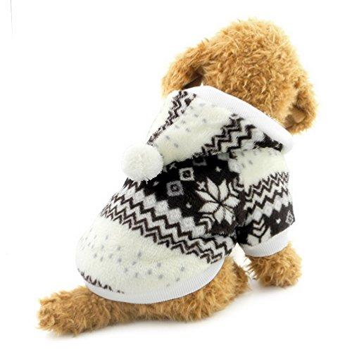 Pegasus Hund Weihnachten Outfit Schneeflocke Hundemantel Hundejacke, mit Fleece gefüttert Hoodie