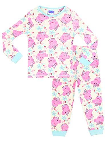 Peppa Pig Pijamas para Niñas Ajuste Ceñido Rosa 5-6 Años