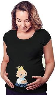 T Shirt Maglia Maglietta Premaman per Femminuccia Personalizzata con Nome Sar/ò la Regina della casa
