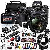 Nikon Z 6II Mirrorless Digital Camera 24.5 MP with 24-70mm Lens (1663) + FTZ Mount + 64GB XQD Card + Corel Software + Case + Filter Kit + Color Filter Kit + More - International Model (Renewed)