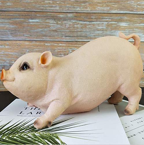 Winpavo Ornements Sculptures Statues Animauxsimulation Cochon Décoration Mignon Animal Zodiac Cochon Modèle Artisanat Creative Jardin Bonsaï Décoration Fille Cadeau D