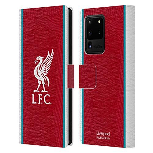 Head Case Designs Offizielle Liverpool Football Club Home 2020/21 Leder Brieftaschen Handyhülle Hülle Huelle kompatibel mit Samsung Galaxy S20 Ultra 5G