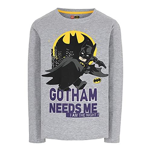 LEGO Batman Jungen Langarmshirt Camiseta, 921, 140 para Niños