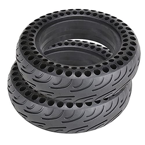 Neumático Sólido De 10 Pulgadas, Neumático De Goma Delantero/Trasero De 10 × 2,75, Repuesto De Rueda Antideslizante A Prueba De Pinchazos para Neumático De Scooter Eléctrico (2 Piezas)