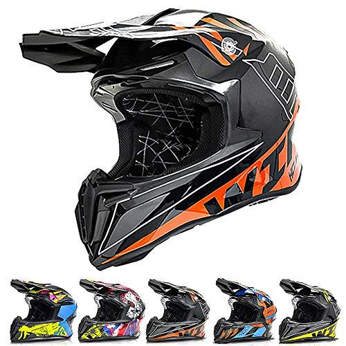 ZJRA Motocross Helmet, Motorcycle Helmet,Adult Crash Cross Helmet,Downhill,Off Road,Scooter,Dirt Bike,Electrical Bike,Moped,Gift,4,XL