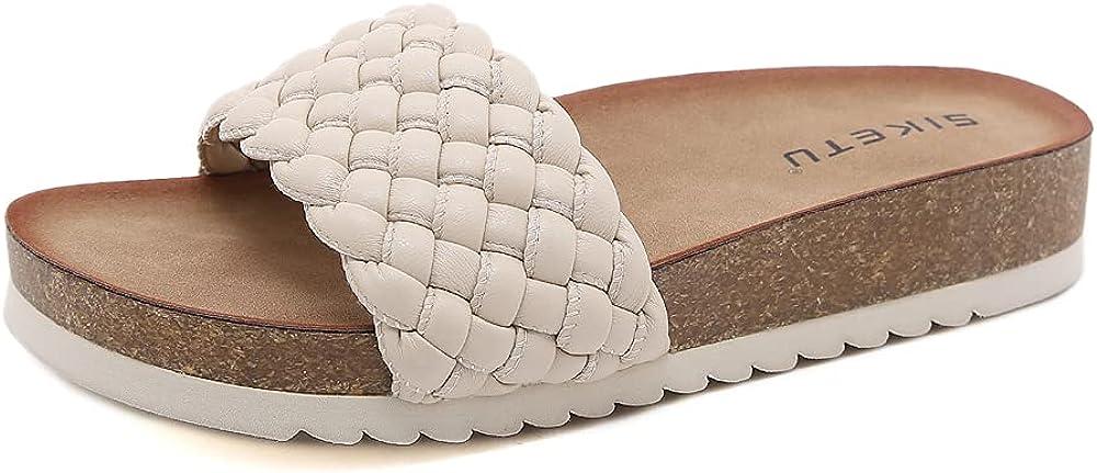 ZAPZEAL Slides Sandals for Women Casual Summer Flat Heel Shoes Comfort Walking Slippers Open Toe Slingback Gladiator Sandals Slingback Thong Beach Flip Flops Sandals, Size 6.5-9.5 US