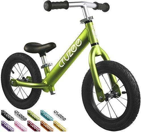 Cruzee Ultralite Air Balance Bike (4. 8 lbs) for Ages 1. 5 to 5 Years - Green