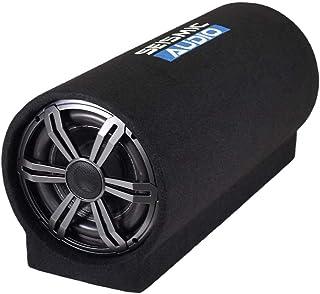 $129 » Seismic Audio - SA-BPT08-A - Active 8 Inch Car Audio Subwoofer Tube Speaker - 400 Watt Sub Speaker Enclosure 4 Ohm with Re...
