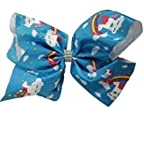 JoJo Siwa Large Cheer Hair Bow (Rainbow Unicorn)