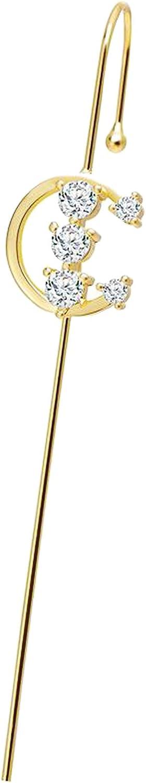 Bonarty Elegant Wedding Earcuffs Piercing Ear Wrap Climbers Earrings for Women Girls - Style 3
