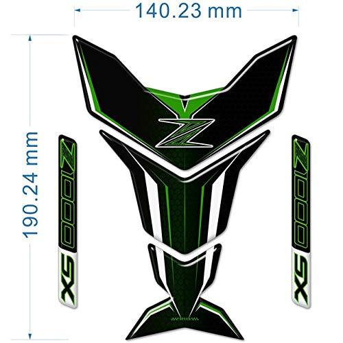 Motorrad-Aufkleber-Behälter-Auflage-Schutz-Emblem for Kawasaki Z400 Z650 Z750 Z800 Z900 Z1000 SX ABS Logo anhuidsb (Color : Z1000)