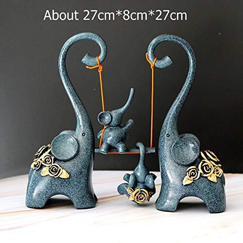 Escultura Estatua,Estatua Escultura Elefante Abstracto Columpio Estatua De La Familia Moderna Novedad Ornamento Figuras Para La Sala De Estar Decoración Del Hogar Decoración De La Oficina Artes Acc