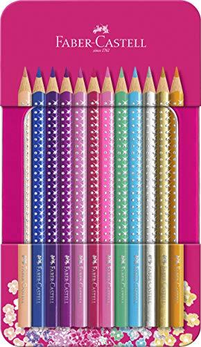 Faber-Castell 201737 - Buntstifte Sparkle 12er Metalletui, 1 Stück