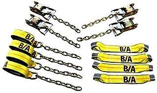 BA Products 38-200C 8ポイントタイダウンシステム ラチェットにチェーンとストラップ付き ロールバック、カーホーラー、キャリア、フラットベッド用