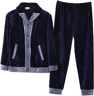 3c4b5bea20194 PAJAMASX Automne Et Hiver De Pyjama Hommes Corail Polaire Modèles  Épaississement Plus Costume De Service À