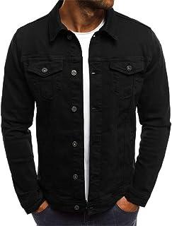 Mens Denim Jacket Casual Jacket Classic Trucker Jacket Retro Style Fashion Casual Jeans Coat Buttoned Streetwear Urban Mod...