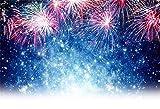 15x10ft Holiday Fireworks Backdrop Happy New Year Celebration Photography Backdrop Night Sky Halos Video Studio Props Christmas Party Decoration Vinyl Banner Blog Web Online Celebrity Live Drops