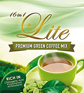 16 in 1 Lite Premium Green Coffee Mix Natural Slimming, Whitening & Antioxidants - 10 Sachets