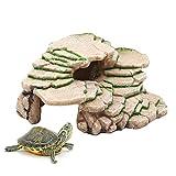 Bulz Shale Step Ledge for Torto<span class='highlight'>is</span>e Turtles Climbing Plateforme Aquariums & Terrariums Ornament, Reptile Hideout Ledges for F<span class='highlight'>is</span>h, Reptiles, <span class='highlight'>Amphibian</span>s, and Small Animals
