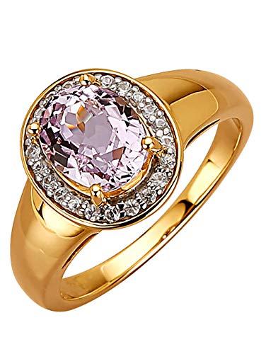 KLiNGEL Damen 375 Gelbgold Ring mit Kunzit in Rosé