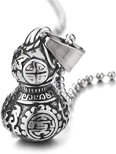 NC110 Collar con Colgante de Calabaza de Cilindro de Buena Suerte, diseño de Tatuaje Tribal, Collar con Personalidad de Hip Hop Rock YUAHJIGE