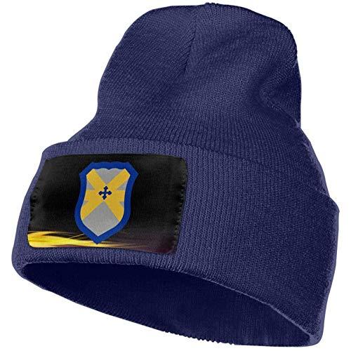 Sombrero de Punto Unisex Gorro de Calavera de Moda Sombreros de Punto - Insignia de Manga de Hombro de la División de Caballería 62