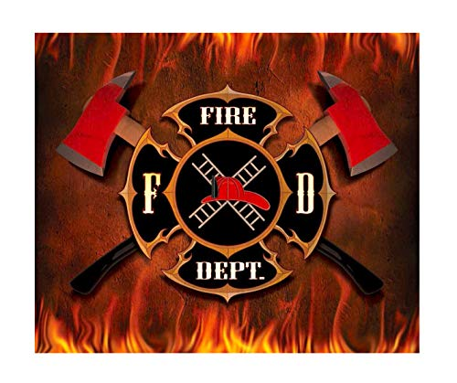 "Fire Department Shield Throw Blanket Super Soft 50"" x 60"""