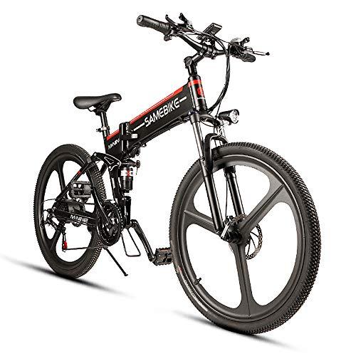 SHIJING Elektrische fiets, 26 inch, gevouwen elektrische fiets, 48 V, 350 W motor