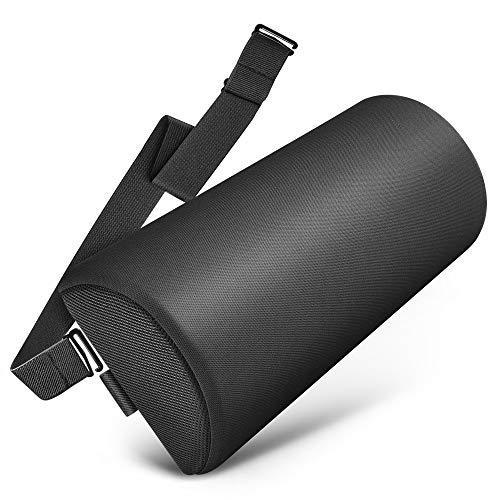 Tusscle Lendenkissen für Bürostuhl, Rückenkissen mit Memory Foam, Ergonomisches Lendenrolle für Auto, Zuhause, Büro, Reisen