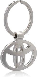 TOYOTA Metal Key Chain Ring Fancy Chrome Plated Keychain Sports Car Logo - Etios Liva Corolla Innova Camry Fortuner