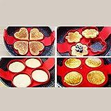 Silikon-Formen, Wiederverwendbare Antihaft Ei Schimmel Silikon Pancake Maker für Küche Pfannkuchen