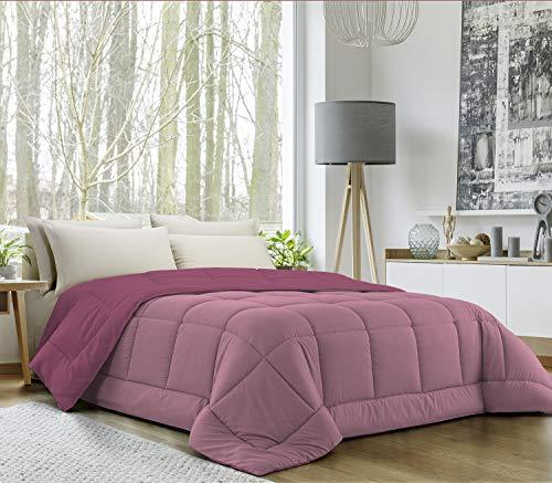 Banzaii Trapunta Invernale in Ecopiuma Double Face Super Soft Una Piazza e Mezza 220x260 cm Rosa/Lavanda