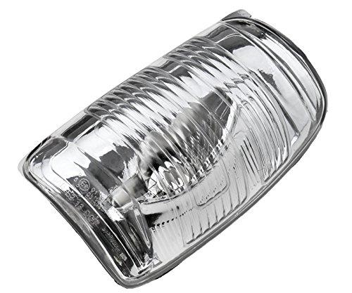 Rétroviseur Indicateur Lampe Lentille Porte Aile Clignotant Couverture Compatible avec Ford Transit MK8 2014 en Avant 1847387 Droite Blanc Accessoires de Voiture