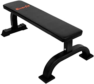 Everfit Flat Weight Bench Home Gym Equipment Fitness Exercise Training Workout 300KG Weight Capacity Bench Press Multifunctional