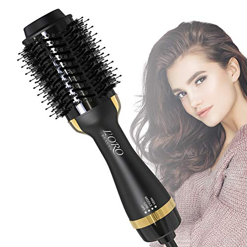 Hot Air BrushL#039ORO BEAUTY Hair Dryer Brush Hair Dryer amp Volumizer with AntiScald Negative Ion for Drying Straightening Curling