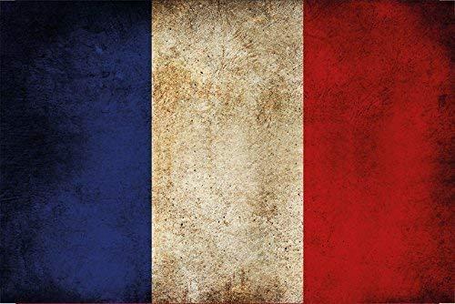 Franse vlag, plaatstaal, 20 x 30 cm