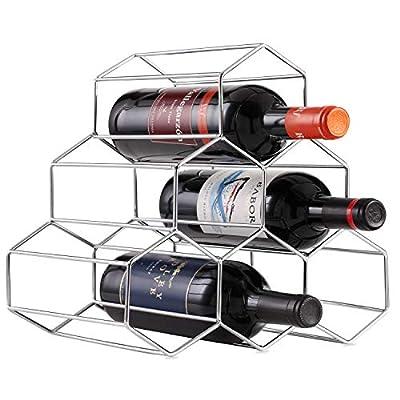 Buruis Metal Wine Rack, Wine Holder for Red White Wine Storage