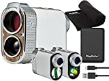 Voice Caddie SL2 Hybrid GPS Golf Laser Rangefinder (with Slope & Green Undulation) | Bundle with PlayBetter Portable Charger, Microfiber Towel | Color Touchscreen, Pin Placement, 2021 Tournament Legal