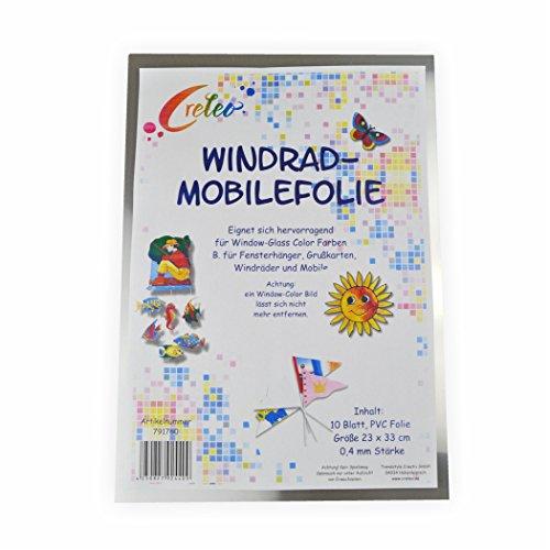 Mobilefolie transparent 0,4mm 23x33cm, 10 Blatt, farblos