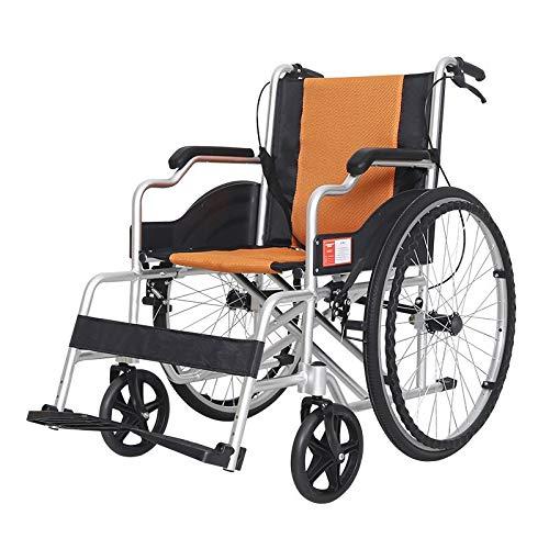 Rolstoel, rolstoel, zelfaandrijving, zitdiepte: 43 cm, mobiel apparaat, inklapbaar, voor transport binnen en eenvoudig op te bergen, compacte rolstoel, voor gebruikers
