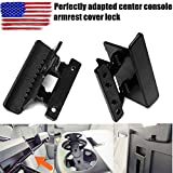 ASOOLL Center Console Armrest Cover Latch, Suitable for 07-14 Silverado, Avalanche, Suburban, Sierra, Yukon, Escalade-Perfect Replacement for OEM Part 20864151, 20864153, 20864154
