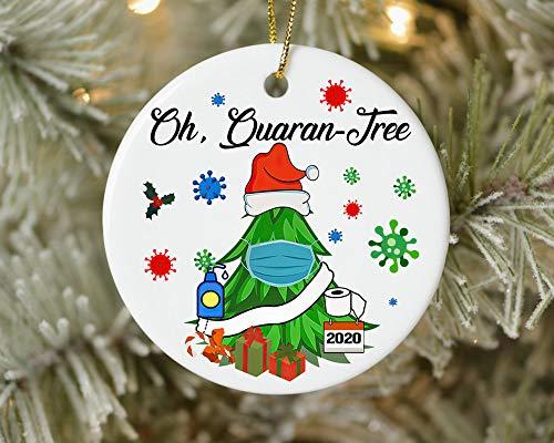 Lplpol 3 Inch Personalized Oh Quaran Tree 2020 Christmas Ornament Quarantine Tree Ornament Covid 2020 Christmas Christmas Tree Holiday Ornament