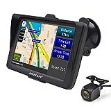 GPS Auto 7 Pouces Système de Navigation Automatique à Ecran Tactile Cartographie Europe 52 à Vie Caméra de recul...