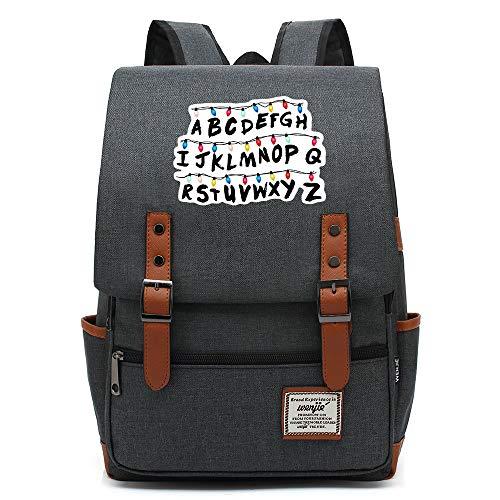 Stranger Things Casual Daypack, all'aperto Oxford College School zaino, si adatta 15'' Tablet portatile, Acqua Resistente 14 pollici. 17 Premere l'immagine della scheda a colori.