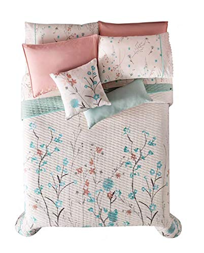 Best Buy! JORGE'S HOME FASHION INC New Pretty Collection Flowers Reversible Comforter Set Sheet Se...