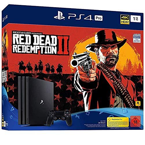 PlayStation 4 Pro - Konsole( 1TB, schwarz) inkl. Red Dead Redemption 2 + 1 DualShock Controller