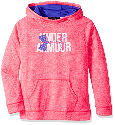Under Armour Men's Armour Fleece Big Logo Printed Hoodie, Penta Pink (975)/Constellation Purple, Youth Large