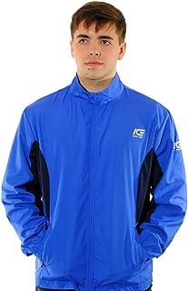 Men's Running Jacket Blue - Lightweight and waterproof, Elasticated cuffs, Pockets
