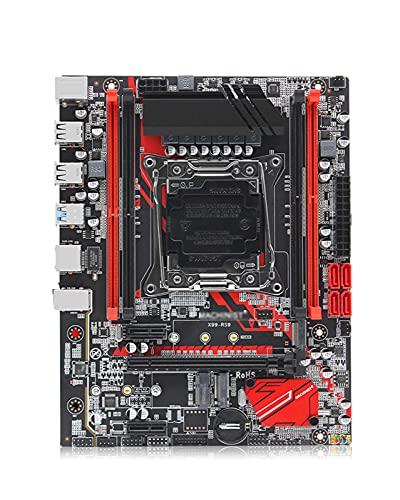 GIAO Placa Base X99 LGA 2011-3 LGA2011-3 con Ranura Dual M.2 NVME Compatible con Cuatro Canales DDR4 ECC RAM XEON E5 V3 V4 X99-RS9